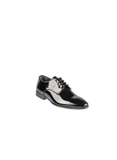 Fosco 9059 Enjeksiyon Taban Siyah Erkek (40-44) Klasik Rugan Ayakkabı Siyah